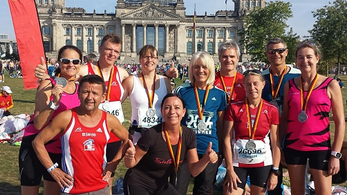 Finisher mit Medaillen